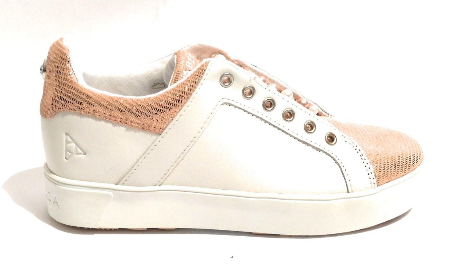 Sneakers Apepazza donna n pelle bianco rosa cipria n donna 35 nuove a8e301