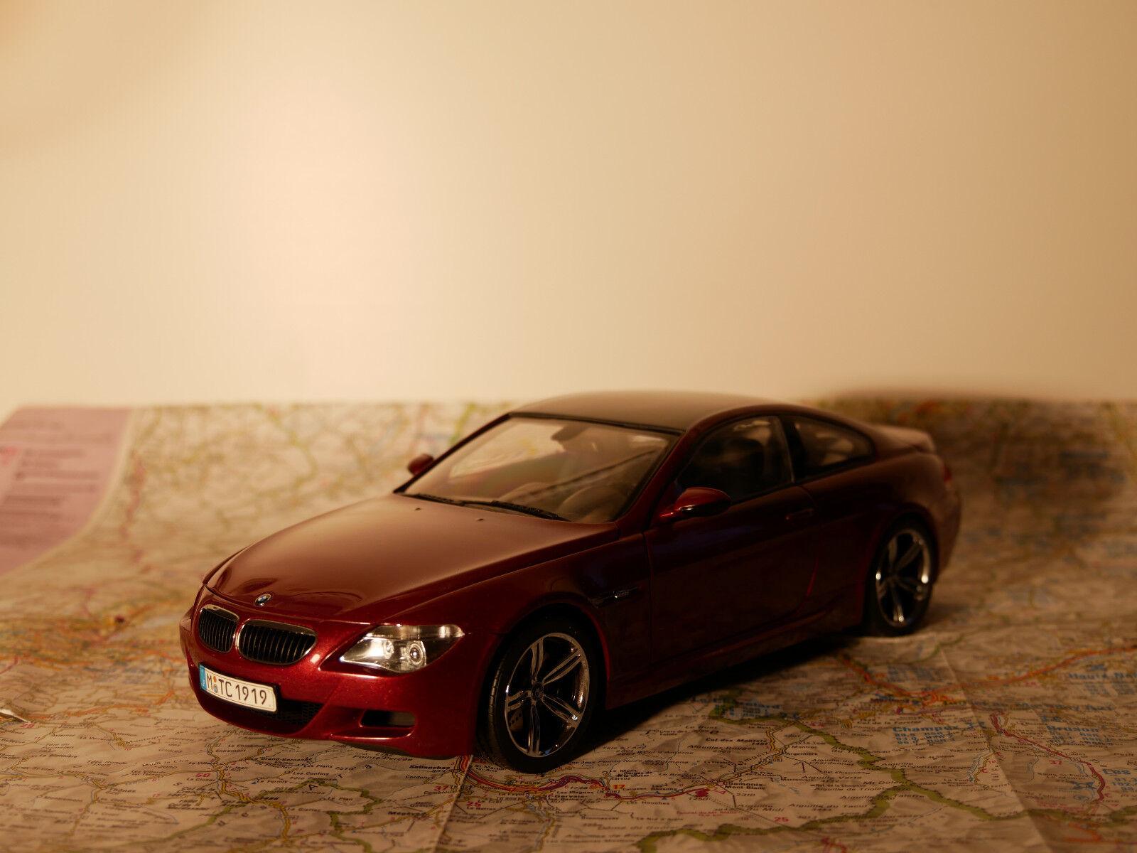 KYOSHO BMW M6 ROT ART.80430398134 BWM - DEALER- VERSION + BOX  1:18  NEW