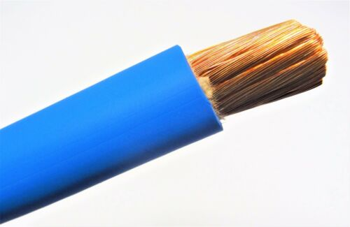 60/' 4 AWG GAUGE WELDING CABLE BLUE COPPER BATTERY LEADS MADE IN USA