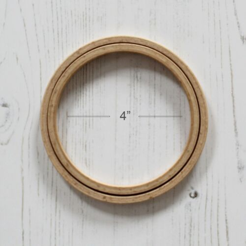 Nurge Screwless Wooden Embroidery Hoop Cross Stitch Ring in Smooth Beech Wood