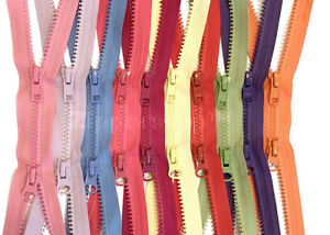 Vislon Jacket Zipper Reversible Slide YKK #5 Molded Plastic Separating End Color BLCK Made in USA ZipperStop Wholesale YKK 12 Custom Length