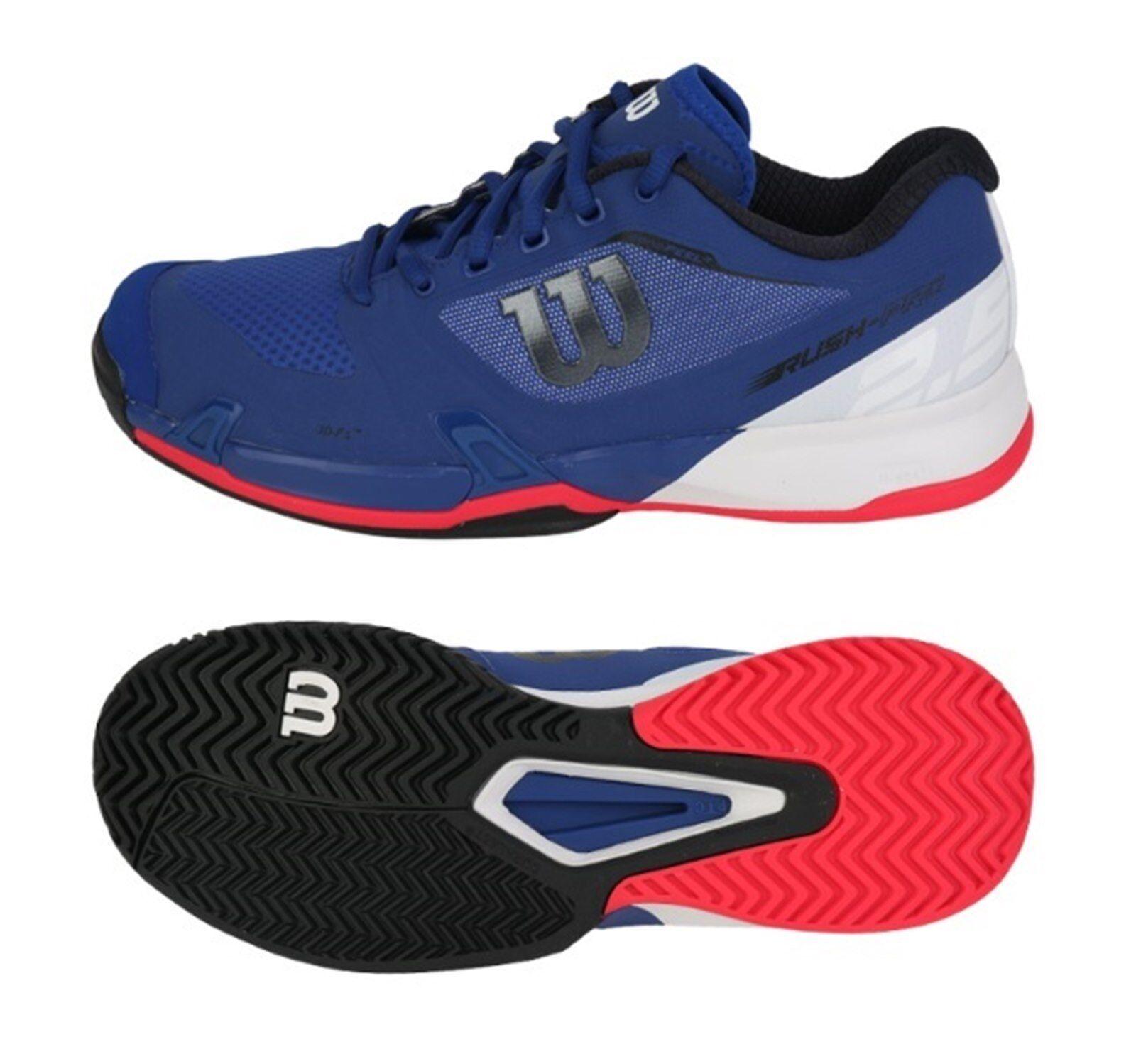 Wilson Rush Pro 2.5 De Hombre Zapatos tenis De Correr Azul Marino Raqueta De Tenis Zapato WRS323660