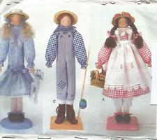 "PATTERN TO MAKE 18"" WOODEN DOWEL DISPLAY DOLLS"
