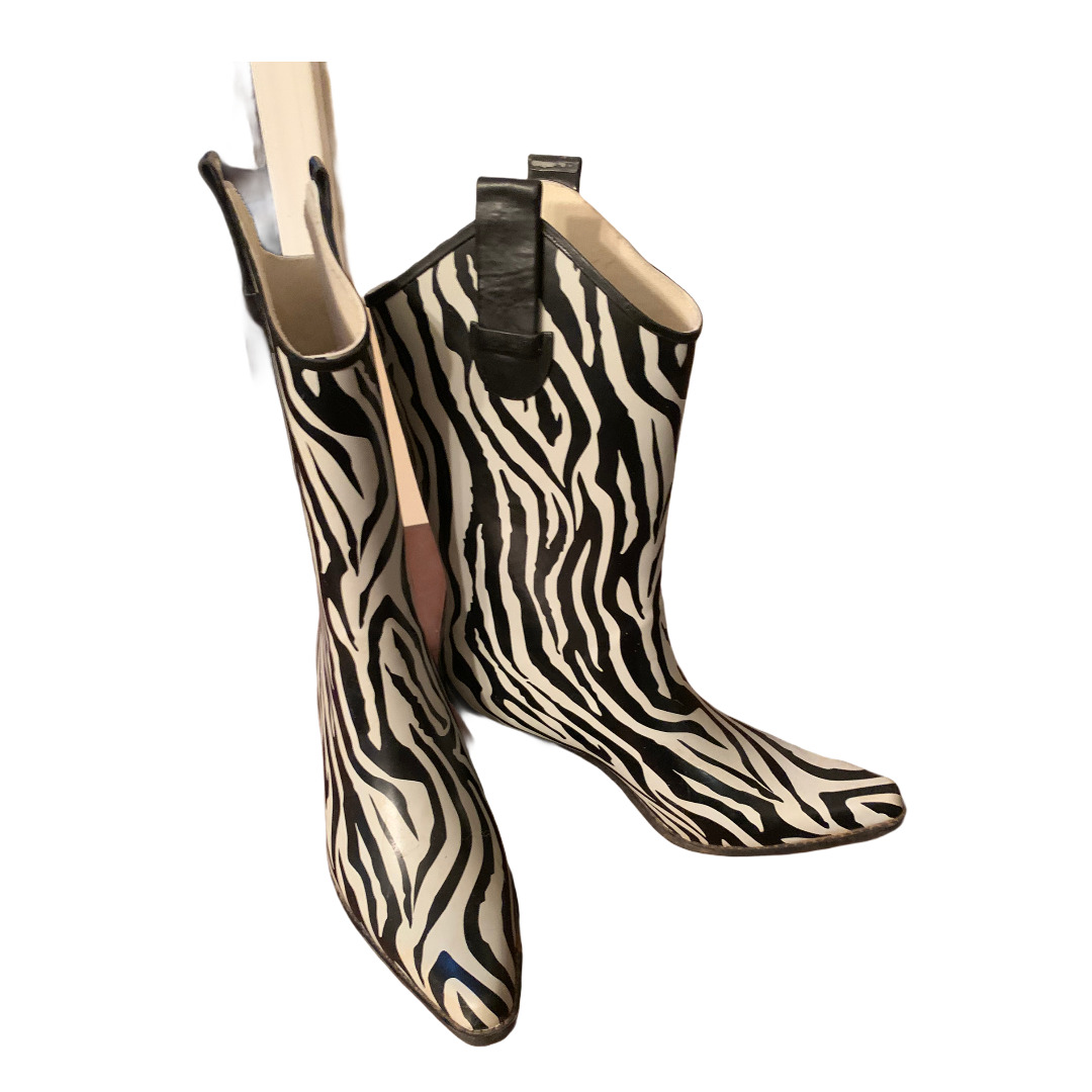 Corkys Western Cowgirl Zebra Print Rubber Rain Bo… - image 3