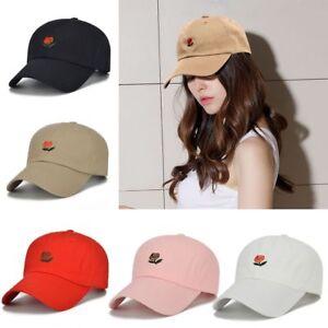 Women-Men-Embroidered-Flower-Rose-Baseball-Cap-Visor-Outdoor-Headgear-Hat-Cap