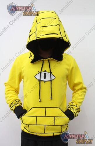 Bill Cipher Human Cosplay Hoodie Costume yellow Ver1 J