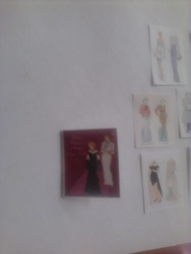 Princess Diana paper dolls dollhouse miniature book