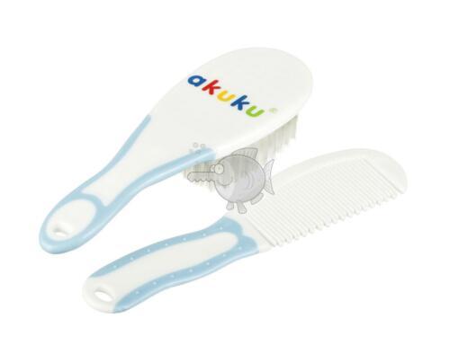 Hair Brush and Comb Set Soft Bristle Baby Grooming Set Newborn Bath Care Akuku