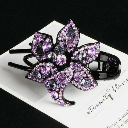 Hairpin Slide Pins Crystal Clips Hair Comb Women/'s Grips Accessories Flower