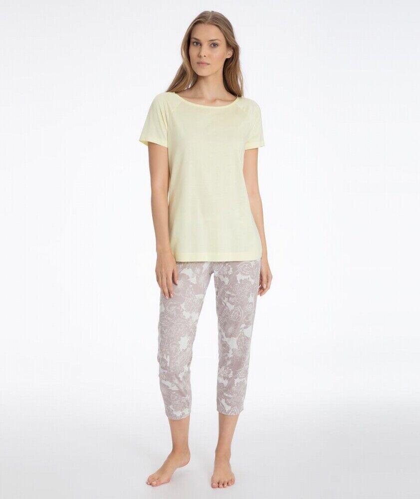 Serie Lilly by Calida, Pyjama 7/8 Schlafanzug Baumwolle Modal 7/8 Hose
