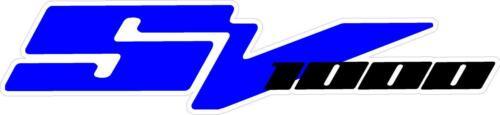 """#2625 6.5/"""" Suzuki SV1000 Side Cover Window Decal Sticker Laminated 1"""