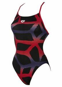 """Kiefer Crazies Vibrations Swimsuit Womens Ladies Black Multi AOP Size 24/"""" *REF45"""