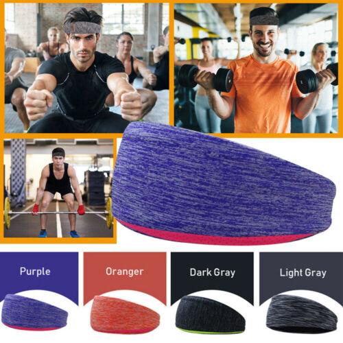 Unisex Women Men Stretch Headband Sports Sweatband Yoga Gym Hair Head Band New