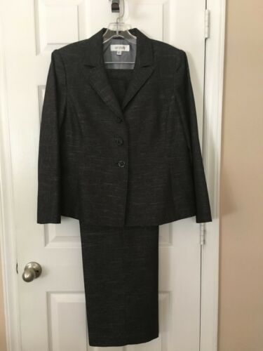 Womans Suit Studio  Black Mixed Sized  Pants Suit