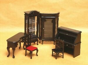 Furniture-for-Dolls-LIBRARY-Dollhouse-Miniature-Scale-1-12-Model-set-011
