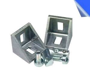 10x-Befestigungsmaterial-Winkel-fuer-20x20-amp-20x40-Nut-5-Aluprofil