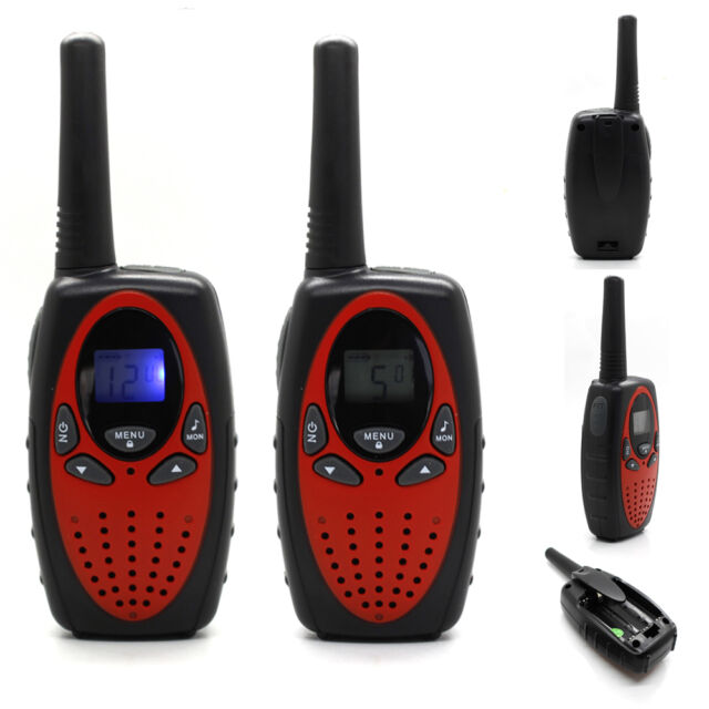 2 x Portable Handheld 2-way Two way radio 5 KM Auto Multi Channel walkie talkie