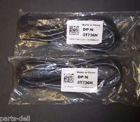 Genuine Dell Poweredge R610 6ft C13 To C14 Connector Cable Lot Of 2 T736h