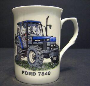 FORD 8600 TRACTOR Fine Bone China mug cup beaker