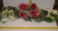 24 Mauve / Cream Silk Rose / Hydrangea Swag ,wedding Decor, Free Shipping