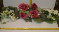 24 Mauve / Cream Silk Rose / Hydrangea Swag ,wedding Decor, Free Shipping