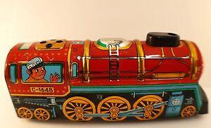 Yone-Japan-n-2198-locomotive-mecanique-en-tole-moteur-a-cle-ancien-16-cm