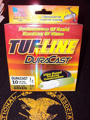 Tuf Line DuraCast 10lb green dura cast Braided Fishing Line Braid