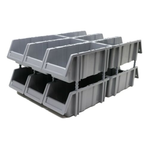 Stakabin Free Standing /& Stackable Grey Plastic Parts Storage Bins Boxes Box