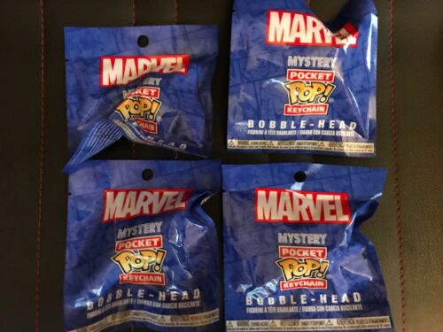 Lot of 4 Funko Marvel Pocket Pop Keychain Blind Bag Mini Figures