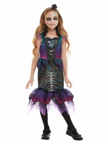 Bambini Zombie Costume Da Sirena Halloween Horror MARE Ragazze Costume Vestito