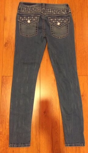 Maglia Blu Grande Denim Bling Stretch Quadri Bebe 27 A Aderente Jeans TEnqwWzdR