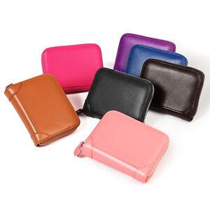 Mens Wallet Credit Card Holder Genuine Leather Blocking Zipper Pocket New