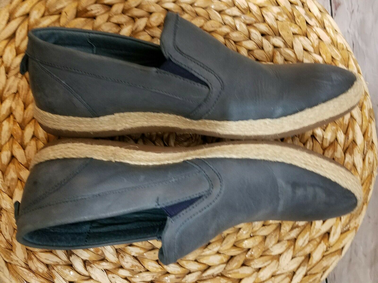 Joe's Jeans Waker shoes Men's Size 10 Slip-On Espadrille Sneaker Leather bluee