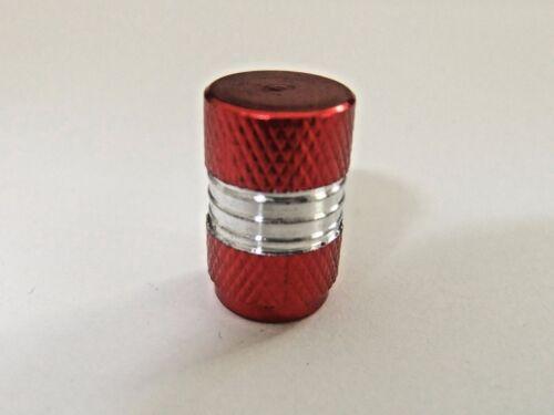 VAN valvola metallica in alluminio Polvere Tappi-auto bmx 4 x di alta qualità Rotondo Rosso moto