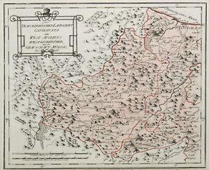 Cartina Molise Geografica.Molise Originale Incisione Cartina Geografica Reilly 1791 Ebay