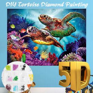 5D-Diamond-Embroidery-Painting-Tortoise-Cross-Stitch-Home-Decor-Full-Drill-dotz
