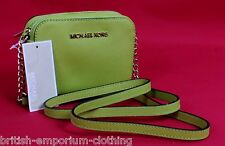 MICHAEL KORS Apple Green Saffiano Leather Jet Set Small Crossbody Bag BNWT