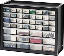 Storage Cabinet Organizer Craft Cabinets Iris Usa 44 Drawer Parts Hardware Black