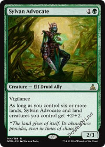 Green Oath of the Gatewatch Mtg Magic Rare 1x x1 1 FOIL Sylvan Advocate