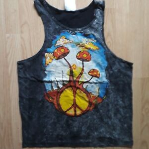 Men Tank top Shirt No Time Brand Magic Mushrooms Psy Cotton 100 Buy ... 6631aaa3803