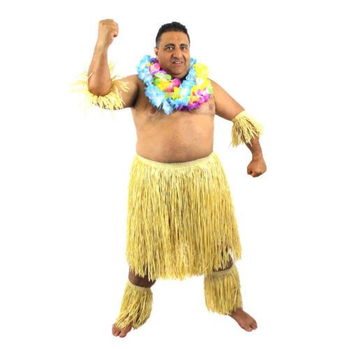 MEN/'S ZULU WARRIOR SET HAWAIIAN TRIBE FANCY DRESS STAG NIGHT LOT X3 X6 X12 X24