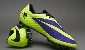 huge discount 3faa7 01ece Details about NIKE HYPERVENOM PHANTOM FG (Purple/Black/Volt) 2 PAIRS 6.5-7  US HURRY!!!