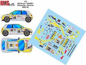 DECALS 1//24 REF 0135 PEUGEOT 306 MAXI HENNY RALLYE MONTE CARLO 1998 WRC RALLY