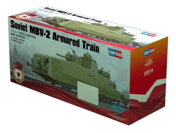 Hobby Boss 3485514 Panzerzug MBV-2 (F-34 Kanone) 1 35 Modellbausatz  | Glücklicher Startpunkt