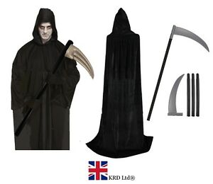 Image is loading Adult-DARKNESS-DEATH-COSTUME-Mens-Faceless-Halloween-Horror - f33f091a4
