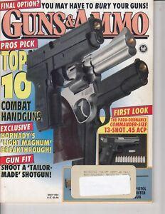 Magazine-GUNS-amp-AMMO-May-1994-SAKO-Vixen-22-PPC-RIFLE-TOP-10-Combat-HANDGUNS
