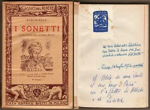 Poesia - I sonetti - Burchiello - Bietti / Dedica e autografo di Alberto Viviani