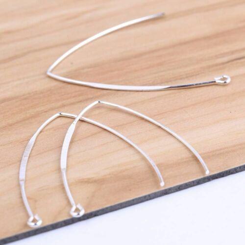 20Pcs V Shaped Earring Clasps Hooks Silver DIY Ear Wire Findings Jewelry Makings