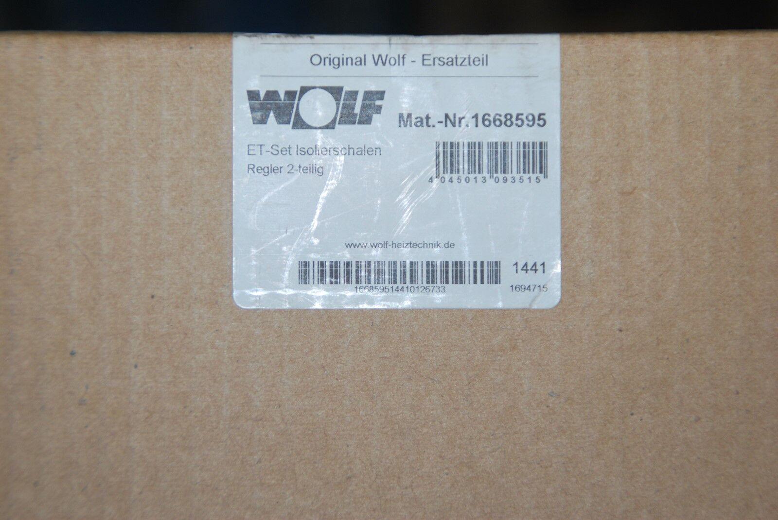 WOLF 1668595 SET WÄRMEDÄMMSCHALE REGLEREINSATZ SOLARPUMPENGRUPPE 10 20 NEU
