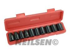 "1/2"" Drive Short Impact Socket Set - 10mm to 24mm 11 size Sockets Tools - 0813"